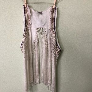 Fringe + Beaded Guess Vest